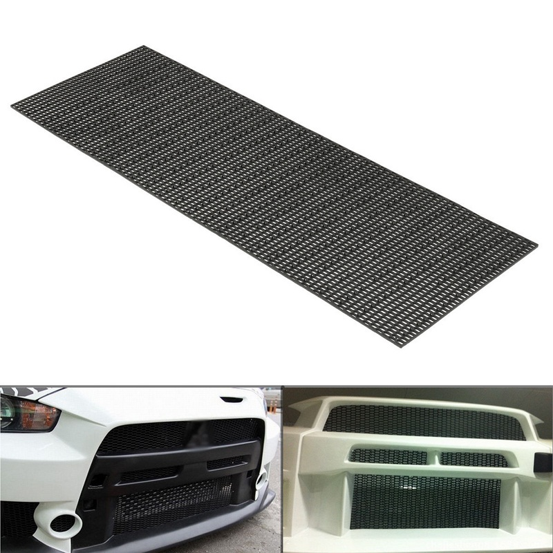 US $20 37 51% OFF 40*120cm Honeycomb Car Radiator Grills Plastic Racing  Radiator Grill Mesh Front Bumper Vent Decoration Accessories-in Front &