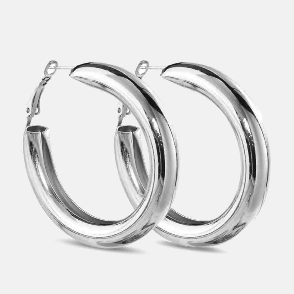 a80f909e3 2019 JUST FEEL 50 MM Big Gold Hoops Earrings Minimalist Thick Tube ...