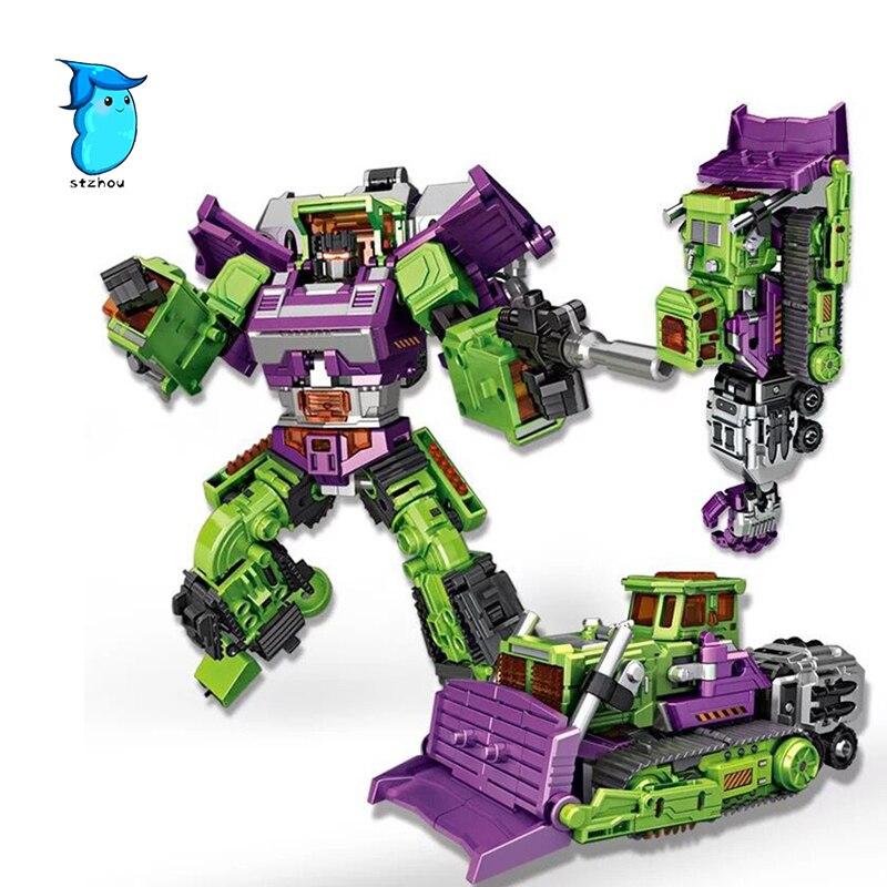 StZhou Transformation 5 NBK NBK-03 Bulldozer Bonecrusher Gravity Builder Devastator figure toy viruses cell transformation and cancer 5
