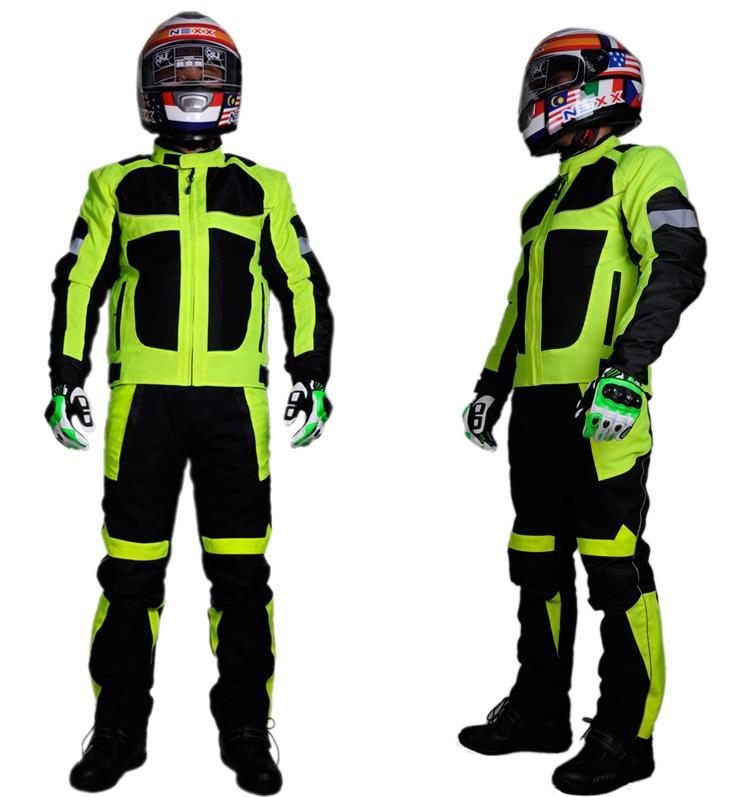 ФОТО Summer Men's Motorcycle Jacket Racing Motorcycle Jacket Pant Waterproof Men Professional Motorcycle Clothing Race Suit