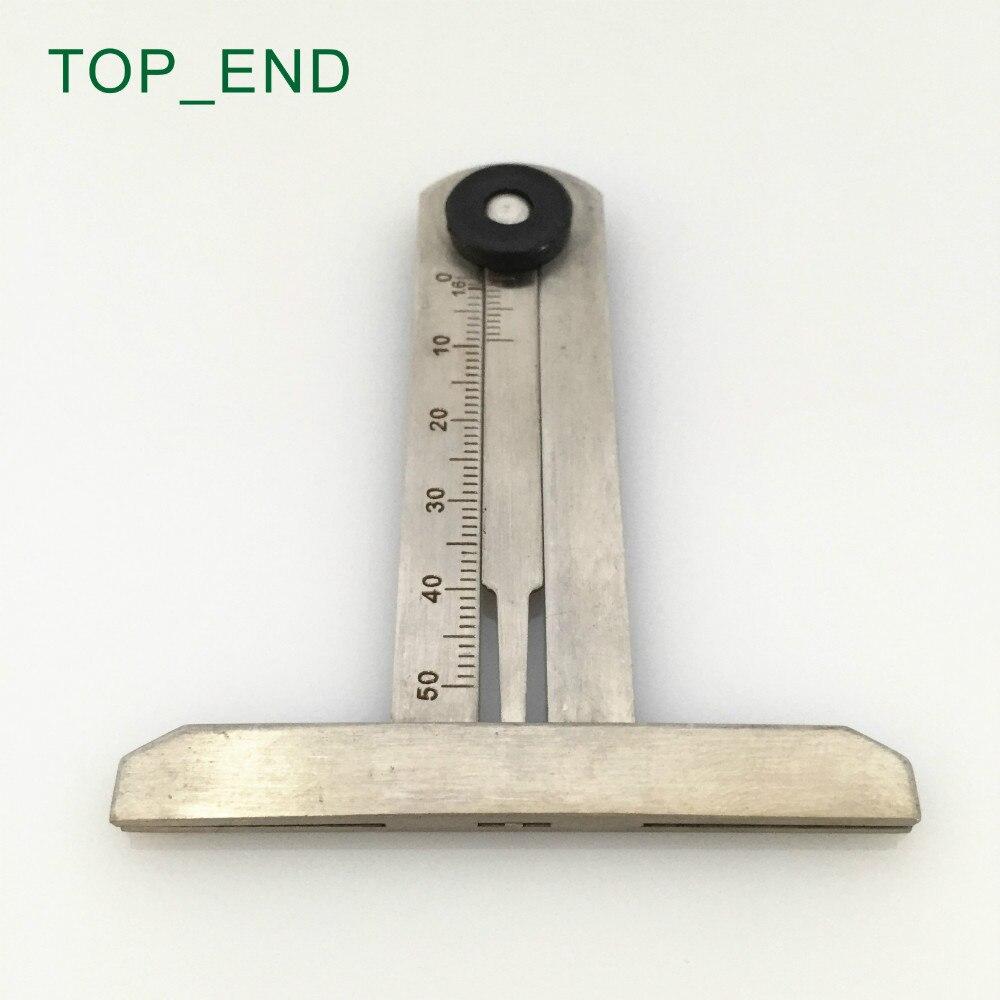 Prix pour Livraison gratuite, 1 pc, T Style en acier inoxydable Tire Tread jauge de profondeur, En acier inoxydable de diapositives, 0 - 50 mm, 1.6 mm marque