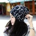 2016 Carta Gorros de Punto Sombrero del Invierno Gorras Skullies Capó Sombreros de invierno Para Las Mujeres Gorro de Lana de Punto Sombrero de Piel Caliente Baggy