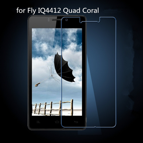 New 9H 2.5D Edge original Premium Tempered Glass Film For Fly IQ4412 Quad Coral Screen Protector +clean kits