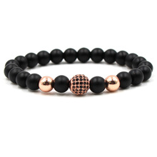 2018 New Trendy Natural Stone Beads Bracelet For Women Men Paved Zircon Stone Bead Distance Bracelets Women Men Jewelry Pulseras fashion men 6mm bead bracelets classic natural matte stone beads charm handmade bracelet