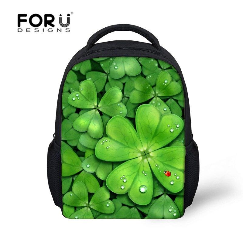 Fashion Plant Print School Bags for Boys Girl Kindergarten Book Bag Children Schoolbag Kid Mochila 2015 Small Backpacks for kids