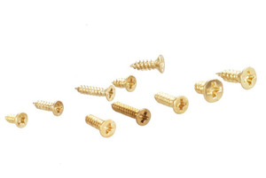 Image 5 - new 500 Piece Brass Plated Wood Screw Assortment self tapping screws teeth mouth fast Muhe small metal screws