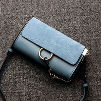 2018 Hot Sale Genuine Leather Ring Bags Famous Brand Small Chain Designer Female Messenger Bag Scrub Leather Handbag Brown Bags