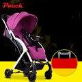 Pouch marca cochecito de bebé ligero cochecito de bebé cochecito del paraguas del coche cochecito de bebé 5.3 kg 4 colores plegable rápido