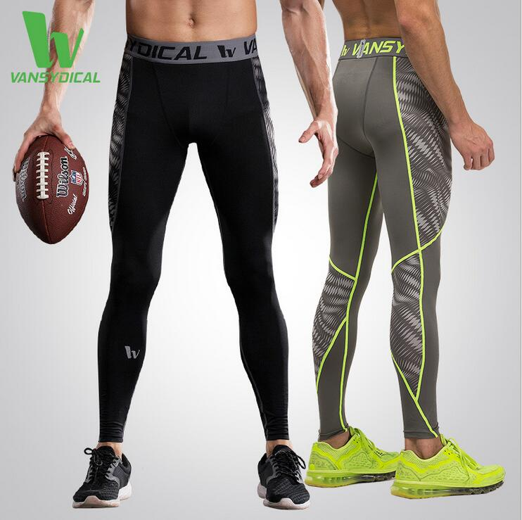 VANSYDICAL Base Layer Compression men Joggers Pants Fitness Pants Active Sports GYM Running Tights Sportswear Tranining