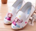 girls shoes slip on cartoon sneakers white pink blue kids flats shose zapato spring autumn 3-8 years loafers mocs elsa annie