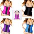 AJ222 Body Shaper Underbust Steel Bone Waist Corset Plus Size Latex Waist Trainer Vest High Quality Slimming Sex Corset