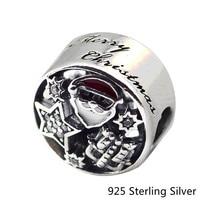 CKK 925 Sterling Silber Schmuck Weihnachten Freude Mit Ein Wenig Sterne Und Ein Geschenk Charme Perlen Für Pandora Armbänder