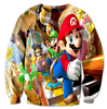 New Arrival Fashion Men Women 3D Sweatshirts Cartoon Printing Super Mario And Cool Friends Harajuku Casual