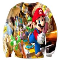 New Arrival Fashion Men Women 3D Sweatshirts Cartoon Printing Super Mario And Cool Friends Harajuku Casual
