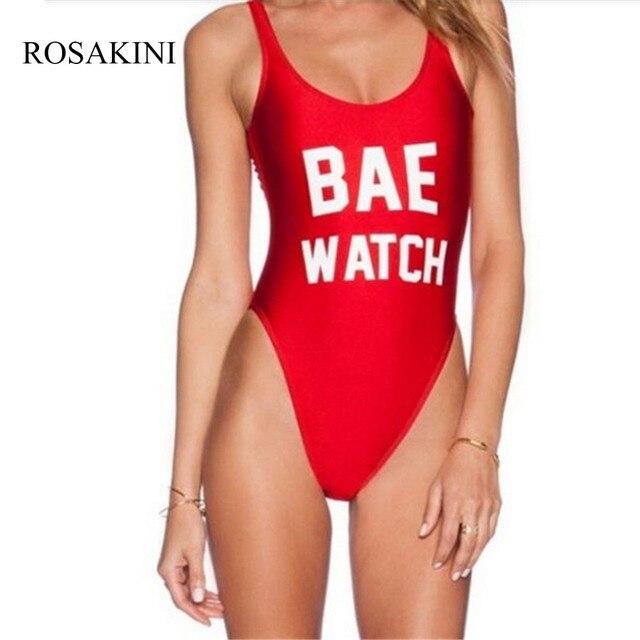 Rosakini сексуальное бикини купальник женщин Летний пляж купальники bae  Watch печатных сексуальные Одна деталь купальник Maillot 1ce63cce63797
