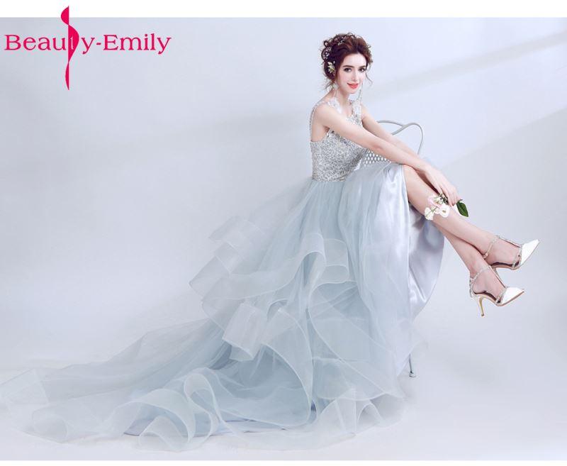 Beauty emily sexy beads lace celebrity dresses backless