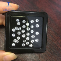 Tbj ,Natural White sapphire round 4mm diamond cut,2 piece in one lot approx 0.7ct for diy jewelry,