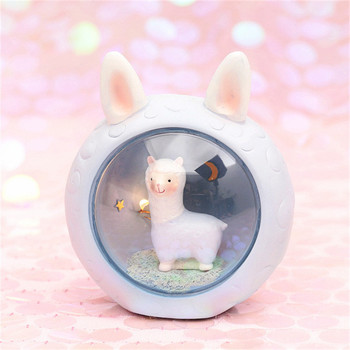 Cartoon alpaca night light Bedroom Bedside Lamp Cute Sheep Room Lamp Luminaria Kids Baby Children Gift Toy Animal Drop Shipping image