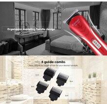 Kemei KM-1409 профессиональная электрическая машинка для стрижки волос, триммер alipearl, волосы UNICE EU Plug, перезаряжаемая электрическая бритва для му...