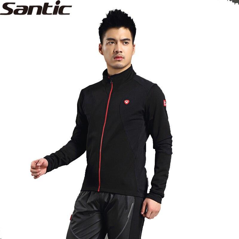 SANTIC veste de vélo équitation hommes Long Jersey hiver veste de cyclisme-lentille Design ergonomique Protection UV polaire thermique WSM702B