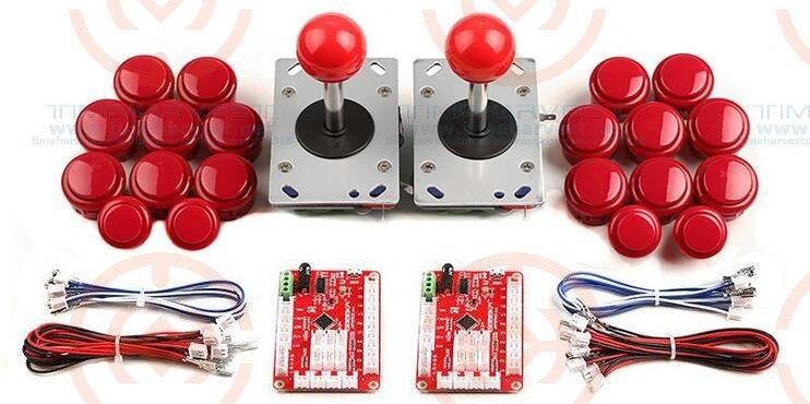 Nouveau kit de pièces d'arcade 2 joueurs, y compris le bouton de joystick d'arcade pour le jeu de bricolage contoller pour le jeu d'arcade MAME Raspberry PI