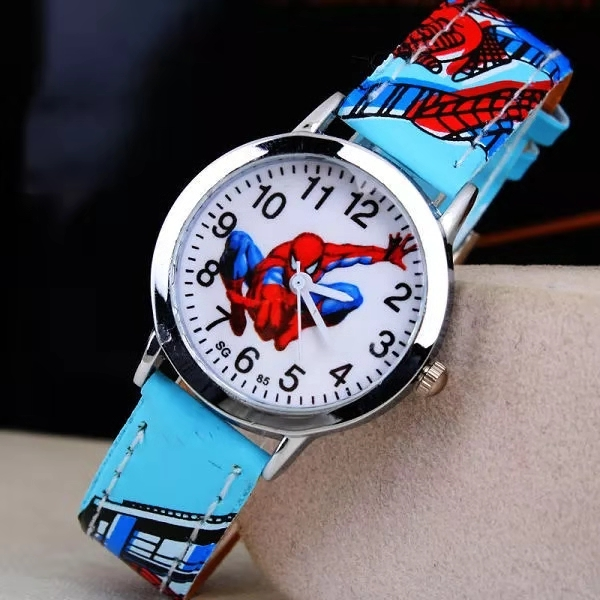 Hot Belt Spider-man Children's Watch Boy Elementary School Quartz Watch