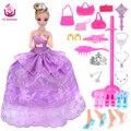 UCanaan 2016 Новый Любимый Принцесса Куклы Партия Свадебное Платье Подвижный Сустав Тела Классические Игрушки Лучший Подарок для Девочек Друзей