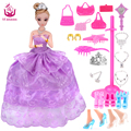 UCanaan 2016 New Favorite Princess Doll Fashion Party Wedding Dress Moveable Joint Body Classic Toys Best Gift for Girls Friends