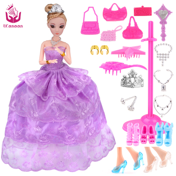 UCanaan New Favorite Princess Doll Fashion Party Wedding Dress Moveable Joint Body Classic Toys Best Gift for Girls Friends best girl toys 2017