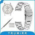 16mm 18mm 20mm 22mm 24mm faixa de relógio de aço inoxidável para tissot T035 T050 PRC 200 T055 T097 T099 Fecho de Segurança Alça de Ligação pulseira