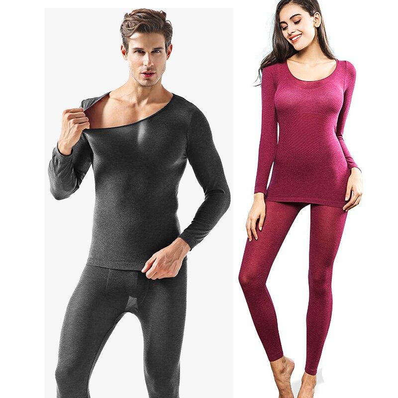 Winter Men Winter Warm Thin Thermal Underwear Ultrathin Shaper Women Heat Warm Long Johns Sets Super Elastic Body Suit For Homme