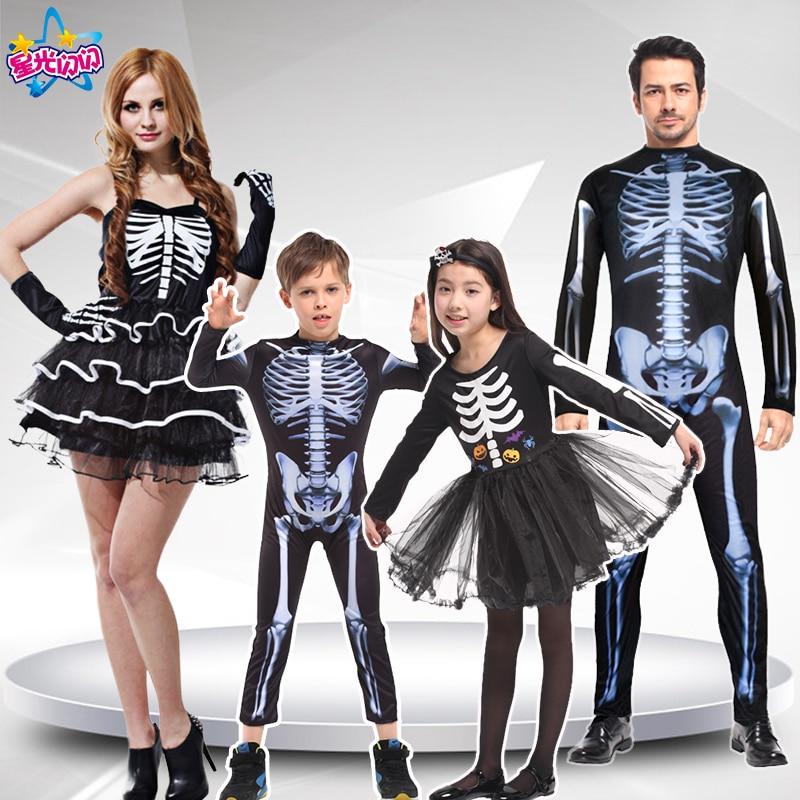Odrasli Moški Ženske Otroci Halloween party cosplay lobanja hudič - Karnevalski kostumi