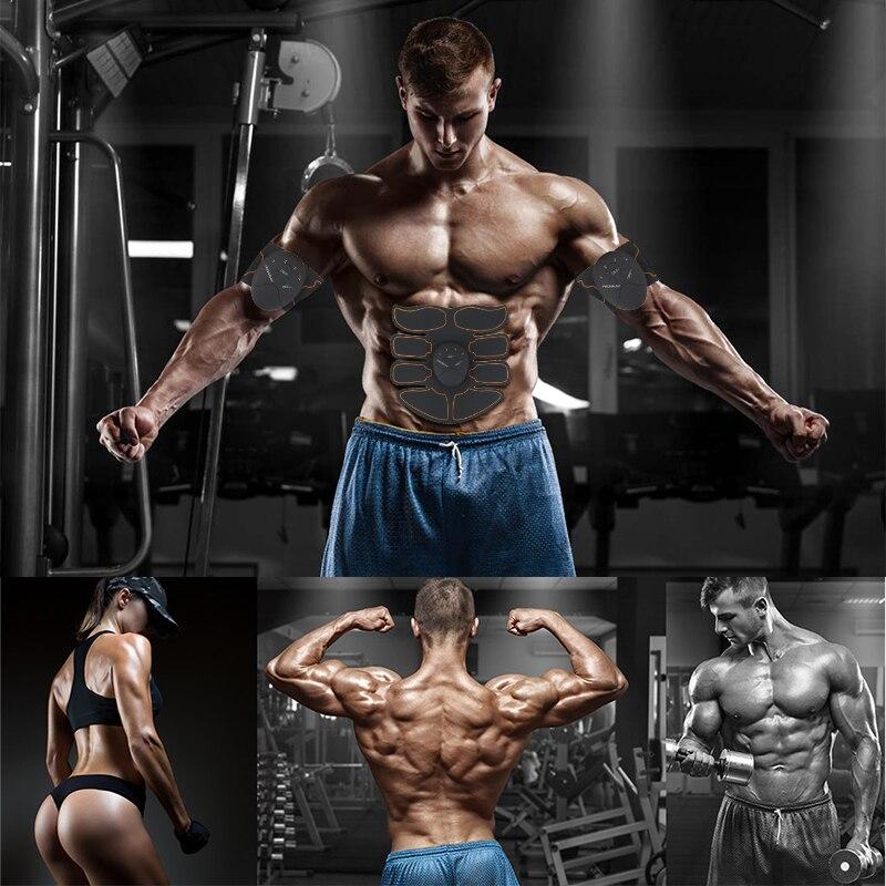 ✓Entrenamiento de los músculos abdominales estimulador dispositivo ...