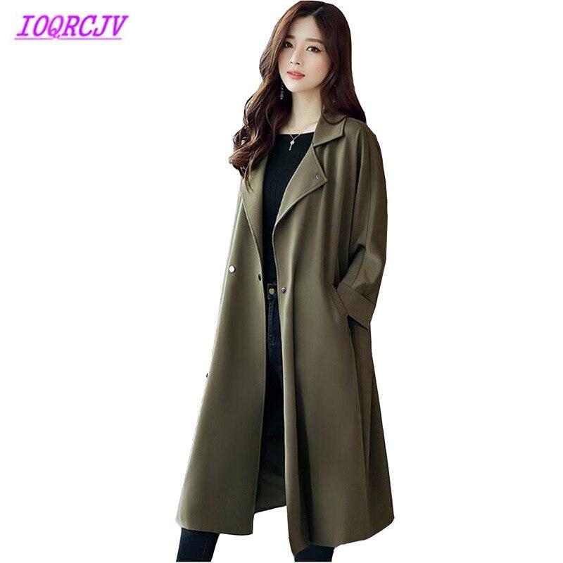 Long   trench   coat Women's 2018 spring fashion Windbreaker coat Plus size palto woman Casual top   trench   female long IOQRCJV H265
