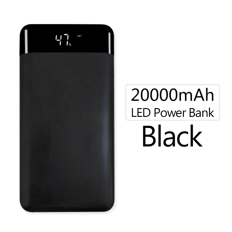 For Xiaomi Power Bank 20000mAh Portable Charger Dual USB Powerbank External Battery Bank 20000 for iphone Samsung Mobile Phones