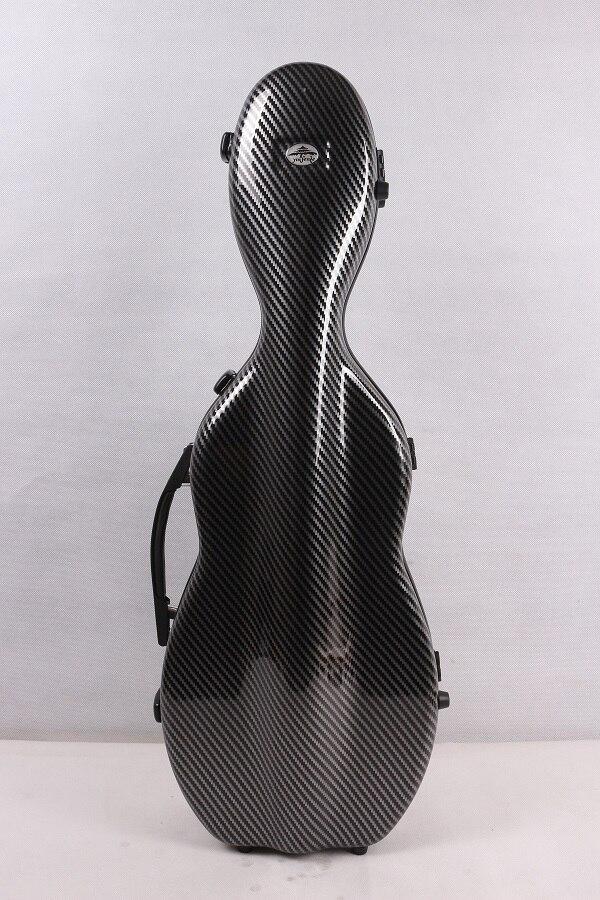Один чехол из углеродного волокна для скрипки 4/4 Размер Чехол из углеродного волокна крепкий светильник прочный черный цвет белый цвет - Цвет: black 3