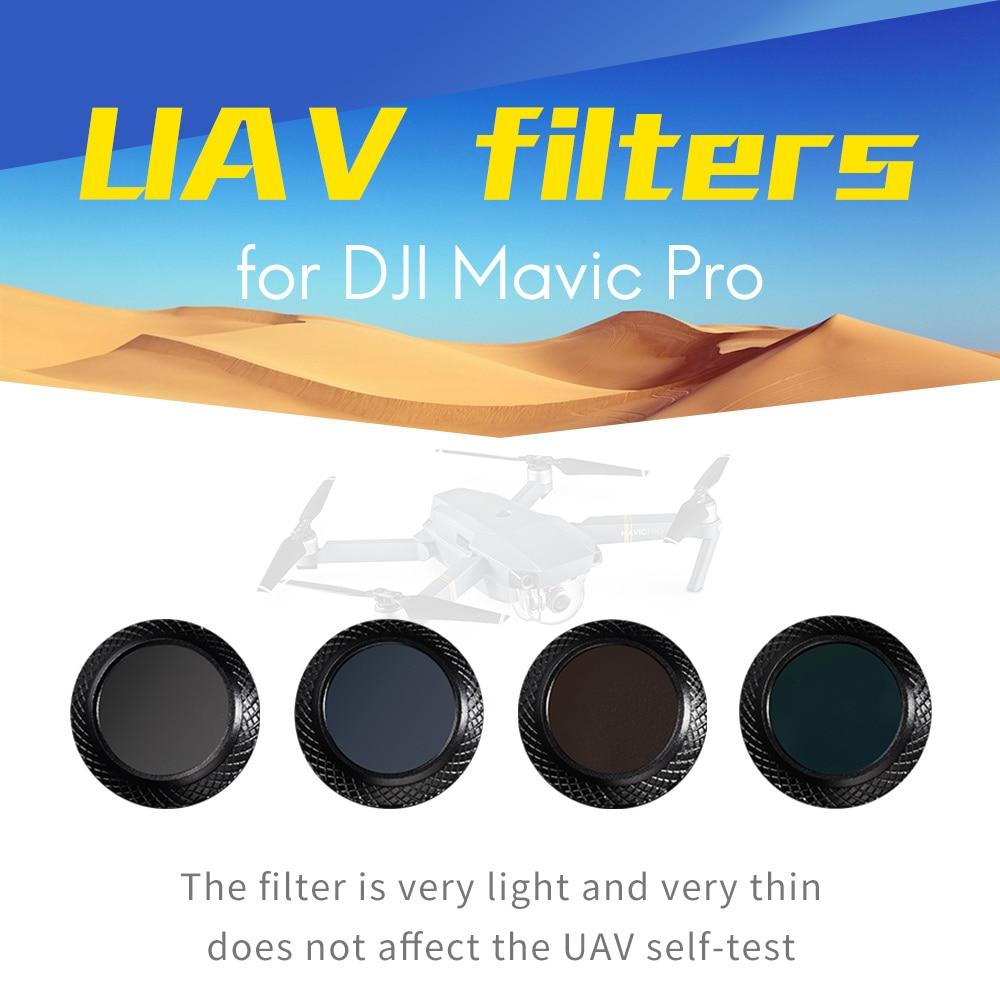 wtianya t y foto filters for dji UAV Mavic pro filters set with c polarizer filter