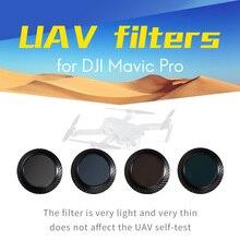 Wtianya t & y fotos Mavic pro filtros filtros para UAV dji conjunto con el filtro polarizador CPL ND4 + ND8 ND16 filtro de Densidad Neutra