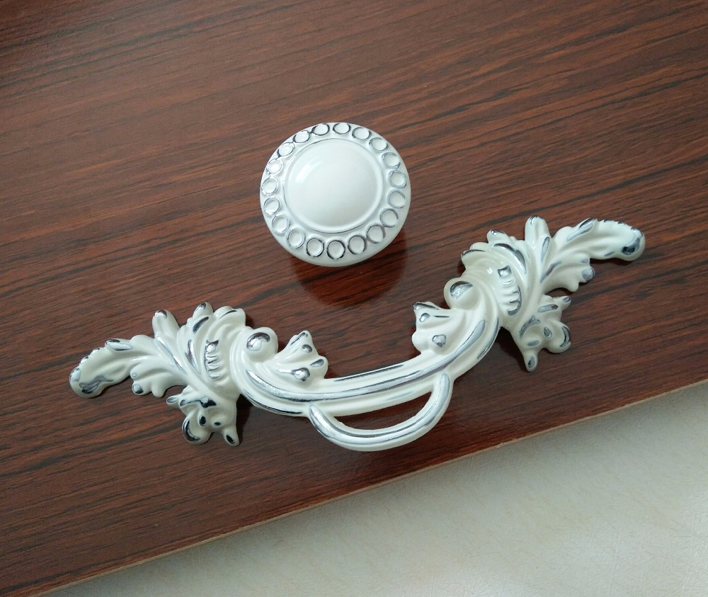 2 5 Quot Shabby Chic Dresser Pulls Handle Drawer Knob White