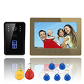 "ENNIO 10"" RFID Video Door Phone Intercom System Doorbell Touch Button Remote Unlock Night Vision Camera Security System"