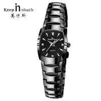 HALTEN IN TOUCH Platz Frauen Uhren Strass Quarzuhr Frauen Luxus Kleid Armband Damen Uhr reloj mujer montre femme