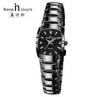 KEEP IN TOUCH Square Women Watches Rhinestone Quartz Watch Women Luxury Dress Bracelet Ladies Watch reloj mujer montre femme