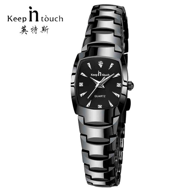 KEEP IN TOUCH Womens Square Watches Rhinestone Quartz Watch Women Luxury Dress F