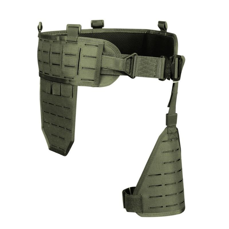Ceinture tactique pour hommes en plein air armée 1000D Nylon Ultra-large tactique à dégagement rapide respirant Multi ceinture réglable souple rembourré Nx