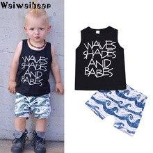 Waiwaibear Summer New Baby Suits Newborn Boys Clothe Vest + Short Pants 2PCS Sets Infant Clothing ZT12