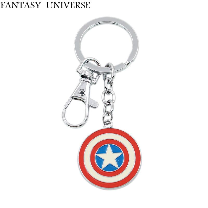 Fantasy universe 무료 배송 20 pcs 캡틴 아메리카 열쇠 고리 hrbbny08-에서열쇠고리부터 쥬얼리 및 액세서리 의  그룹 1