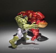 Disney Marvel Avengers Hulk Hulkbuster 7 8 centimetri 2 pz/set Figure Super Heroes Lampeggiante PVC Action Figure Giocattoli di modello per i bambini