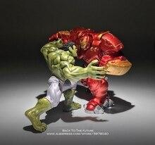 Disney Marvel Avengers Hulk Hulkbuster 7 8cm 2pcs/set Figure Super Heroes Flashing PVC Action Figures Toys model for children