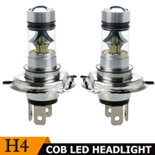 2x автомобиля H4 9003 HB2 100 W 8000 K Hi/Lo луч 20LED Туман света вождения DRL Лампа Белый