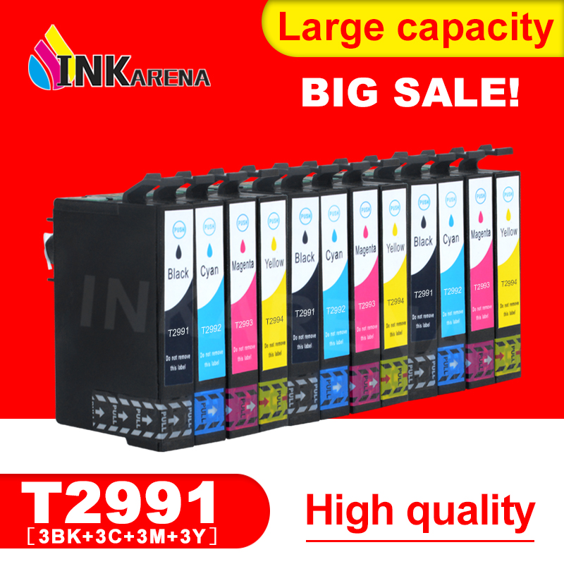 INKARENA T2991 T2992 T2993 T2994 Refill Ink Cartridge For <font><b>Epson</b></font> T29XL 29XL XP245 XP332 XP335 XP342 <font><b>XP345</b></font> XP435 XP432 Printer image